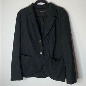 Lafayette 148 black wool blend blazer 16